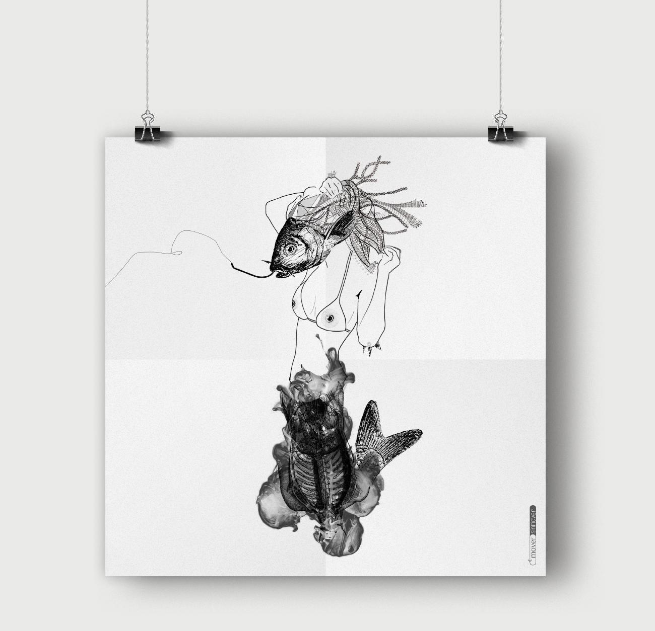 Ilustración: FishSiren. Mítica Fanzine © moversinmover. Ilustraciones