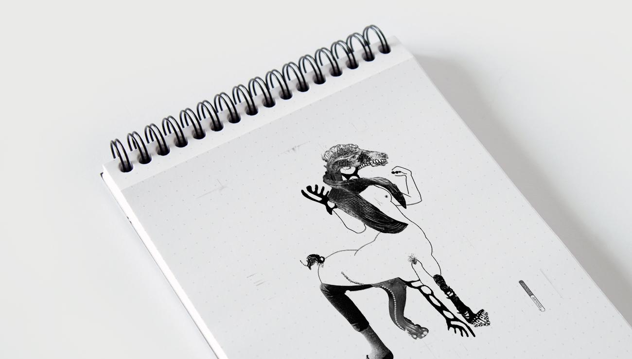 Ilustración: LaCentaur. Mítica Fanzine © moversinmover. Ilustraciones