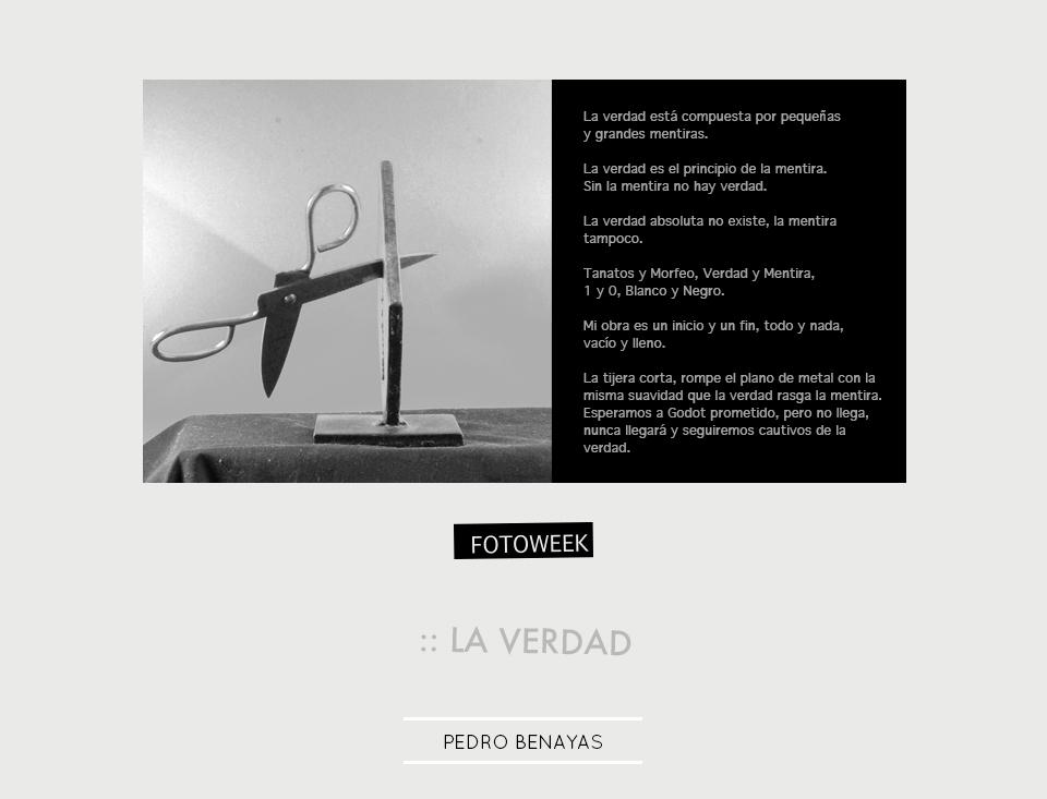 Fotoweek - La verdad : Pedro Benayas © moversinmover
