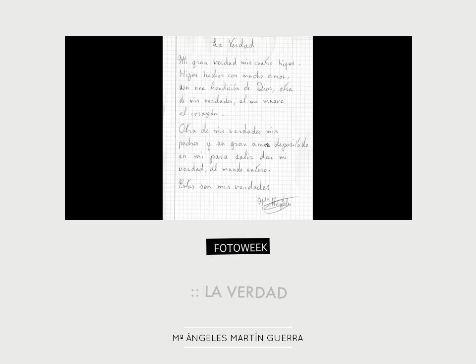 Fotoweek - La verdad : Mª Ángeles Martín Guerra © moversinmover
