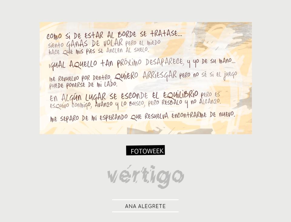 Fotoweek - Vértigo : Ana Alegrete © moversinmover