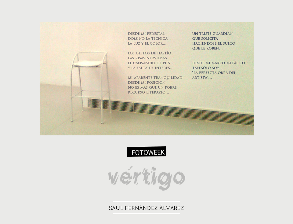 Fotoweek - Vértigo : Saul Fernández Álvarez © moversinmover